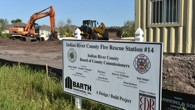 Construction work has begun on Indian River County Fire Rescue Station 14, at 6780 26th St. in Vero Beach.