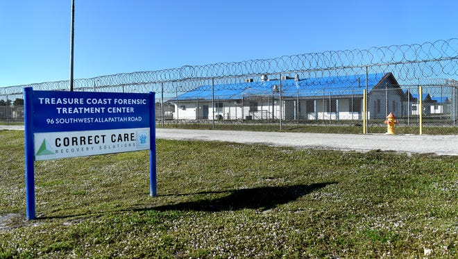 The Treasure Coast Forensic Treatment Center at 96 S.W. Allapatah Road in Martin County. The center provides care to defendants who plead insanity, or too mentally ill to stand trial.