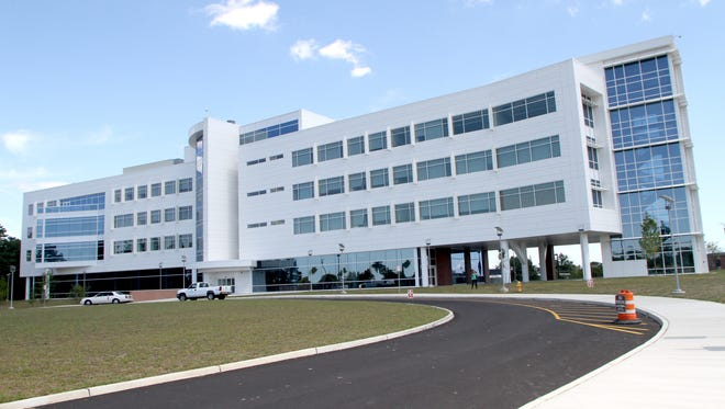 The physical symbol of the Kean Ocean partnership --the Gateway building on the Toms River campus of Ocean County College as seen in September 2013.