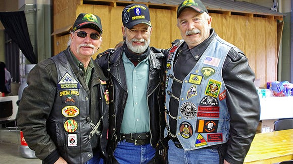Dell Beal, Lester Powell, and Hervey Littlefield are Vietnam Veterans from Lincoln County who are members of the Patriot Guard Riders and attend