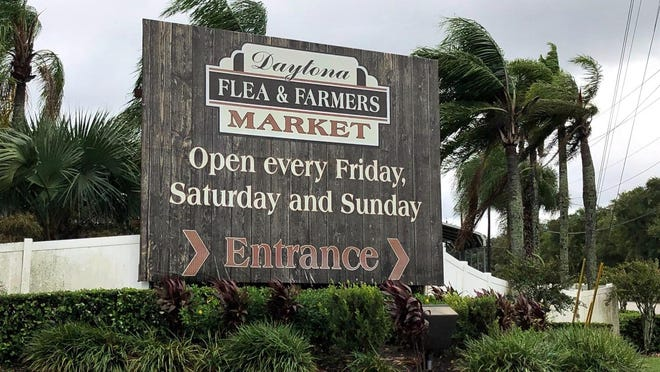 Following damage from a weekend of storms, the Daytona Flea & Farmers Market plans to open as usual on Friday.