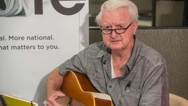 Ed Jones, former high school football coach for Catholic and Lanier, is a longtime singer and songwriter. He performs some of his original songs Monday, July 11, 2016, for the Montgomery Advertiser's original music series Montgomery Advertiser LIVE!