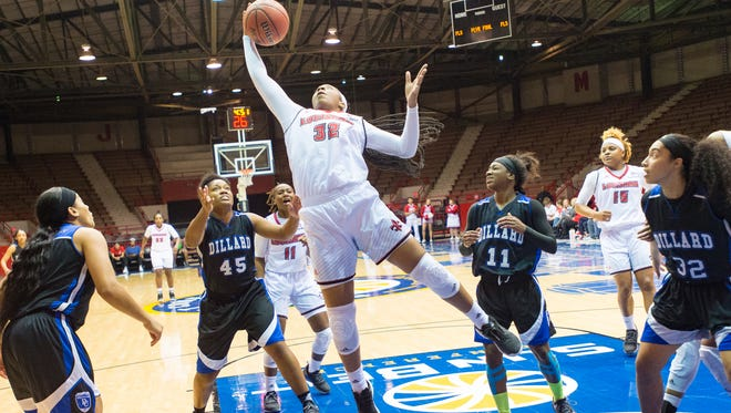 UL's Simone Fields is coming off a 25-point, 10-rebound performance Saturday in the win over ULM.