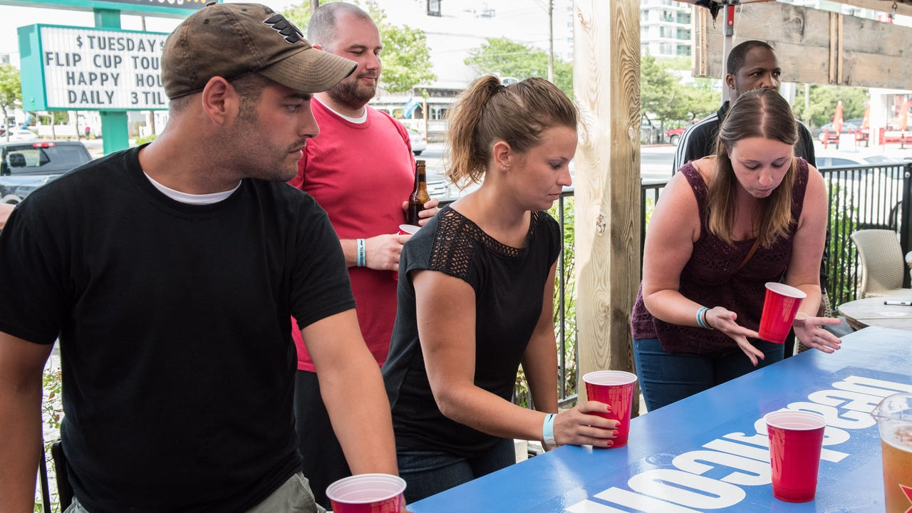 Sixteen teams squared off at the first ever Beachcomber Flip Cup Tournament with the winner taking home $500. Check out the first ever bracket break down at Guidos Burritos.