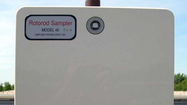 It may be homely, but the Rotorod collects pollen and mold in the air for the daily count issued by the agency.