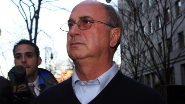 Greenwich investor Stephen Walsh enters the Daniel Patrick Moynhan U.S. Courthouse in Manhattan after being arrested by the FBI on securities fraud charges Feb. 25, 2009. His business partner North Salem Town Supervisor Paul Greenwood was also arraigned.