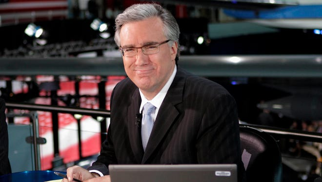 Keith Olbermann poses May 3, 2012, at the Ronald Reagan Library in Simi Valley, Calif.