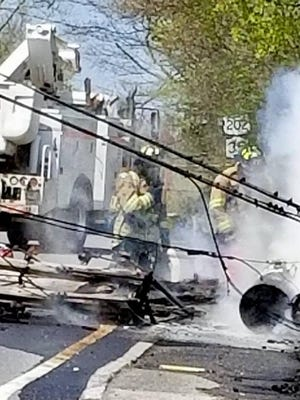Yorktown firefighters responded to the crash.