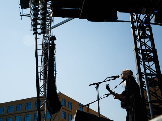 Phoebe Bridgers opens the main stage during the 80/35