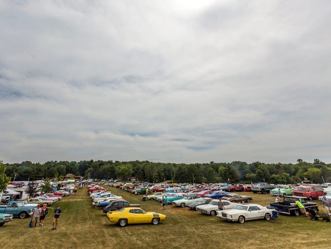 Thousands of cars are displayed on the showgrounds