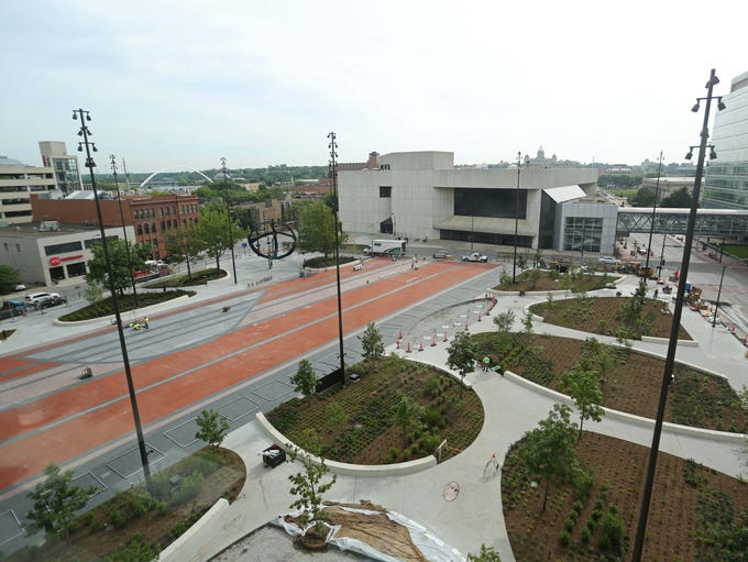 Cowles Commons is near completion on Thursday, June