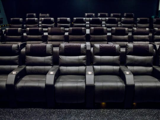 New leather reclining seats have been installed in a theater at Krafft 8 in Port Huron.
