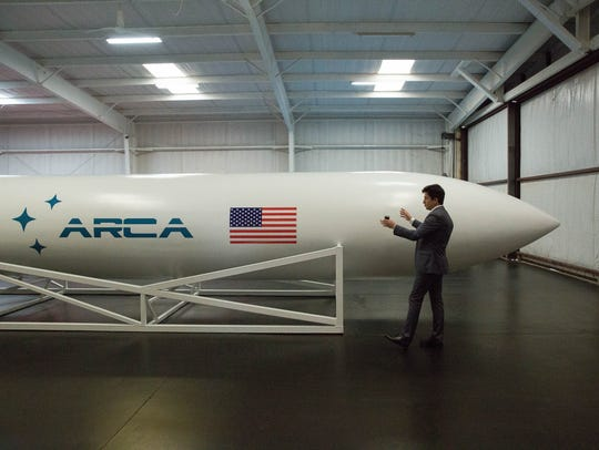 Dumitru Popescu, owner of ARCA Space Corp., explains