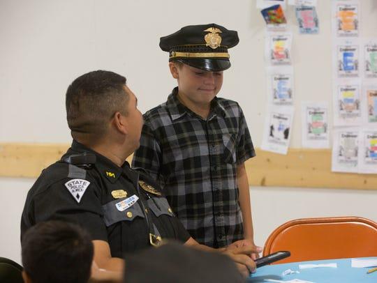 New Mexico State Police Patrolman Jimmy Lopez talks
