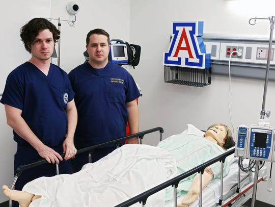 Drs. Jeff Tully (left) and Christian Dameff, both of