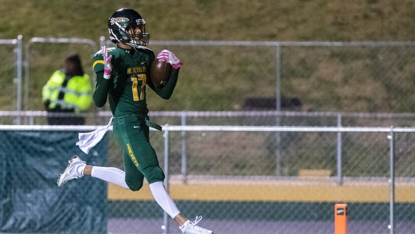 Reynolds' Ari Williams strides into the end zone during