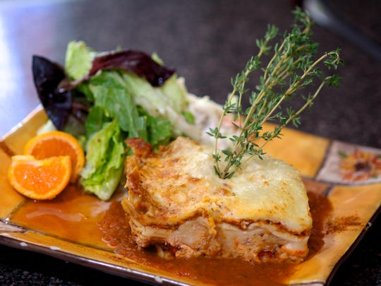 At Chef Larry's Cafe in Titusville, the lobster, crab and shrimp lasagna is a popular special.