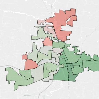 Voters in the south and east parts of town helped push