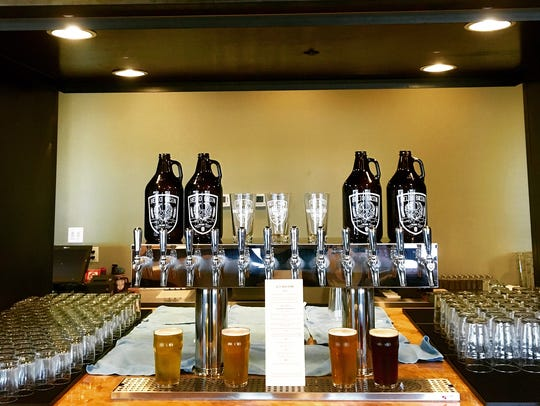 Helio Basin Brewing Co. beer tap. The beers do not