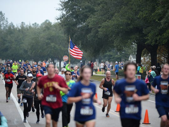 Thousands of runners showed up in Southwood, Thanksgiving morning to run the annual Tallahassee Turkey Trot, Nov. 23, 2017, Tallahassee, Fl