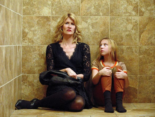 Filmmaker Jennifer Fox (Laura Dern, left) is forced