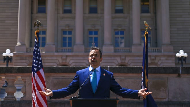 Gov. Matt Bevin at a press conference in June.