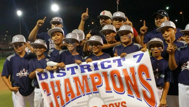 The Deming Little League Major Division All Stars captured the New Mexico District 7 Championship on Tuesday in Silver City. The locals defeated tournament host Silver City 7-5 to claim the district banner and earn a trip to the state tournament.
