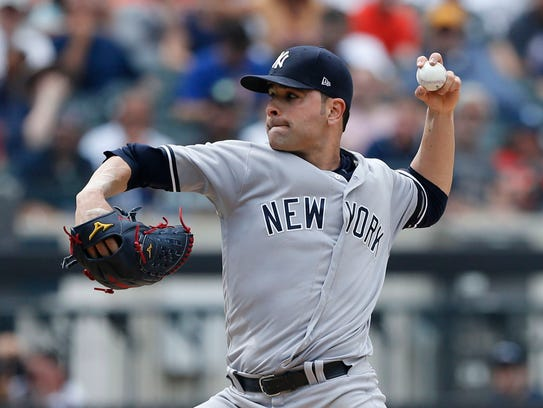 New York Yankees starting pitcher Jaime Garcia (34)