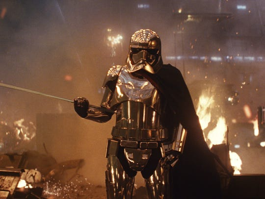 "Gwendoline Christie plays Capt. Phasma in ""Star Wars:"