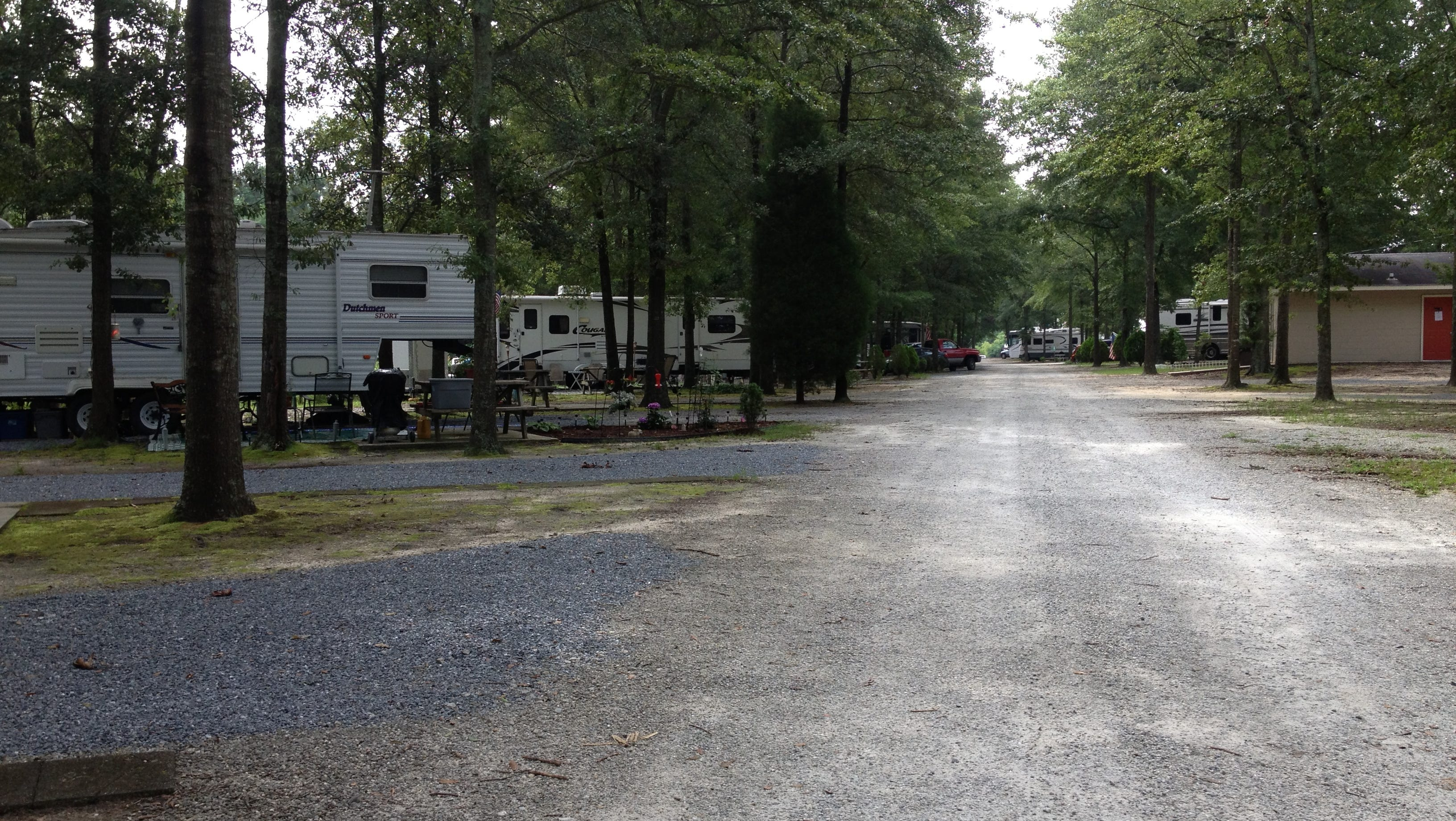 The RV park includes short-timers and longer-term residents. Dozens of vehicles can pull in, plug in and stay for a night, a week or months.