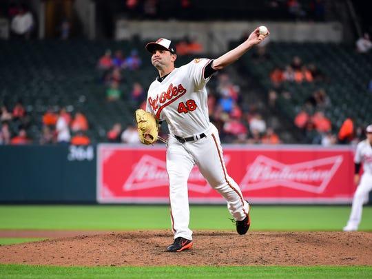 May 9, 2018; Baltimore, MD, USA; Baltimore Orioles