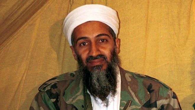 This undated file photo shows al-Qaida leader Osama bin Laden in Afghanistan. U.S. intelligence agencies have released more than 100 documents and other materials that were seized in the May 2011 raid that killed bin Laden. The materials from his compound in Abbottabad, Pakistan, were declassified and made public on Tuesday after a lengthy review by government agencies.