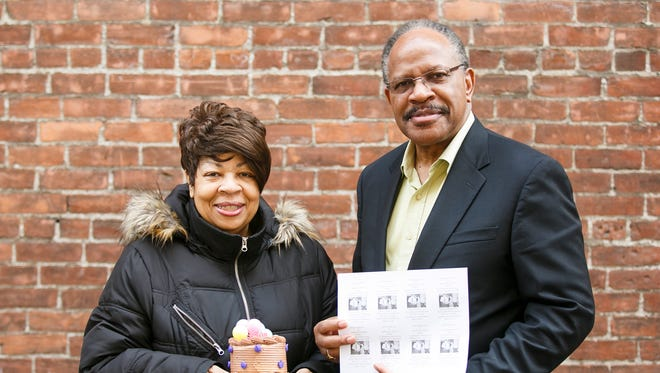 Marilyn and Benny Williams with the Salem Keizer NAACP at Holding Court on Tuesday, Feb. 14, 2017.
