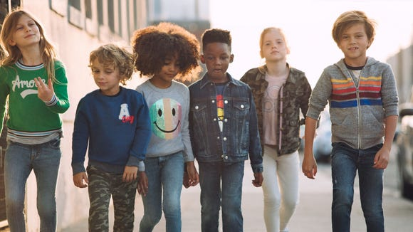 "Gymboree has unveiled a ""brand refresh"" with a higher"