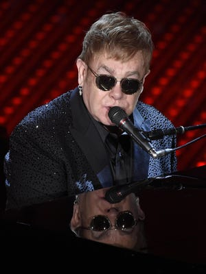 Superstar Elton John will entertain fans with a daytime Sunset Strip concert Saturday.