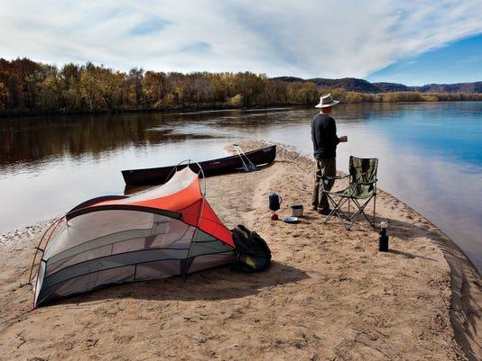 Sandbar camping