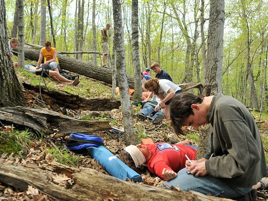 Students take first aid to the wild side