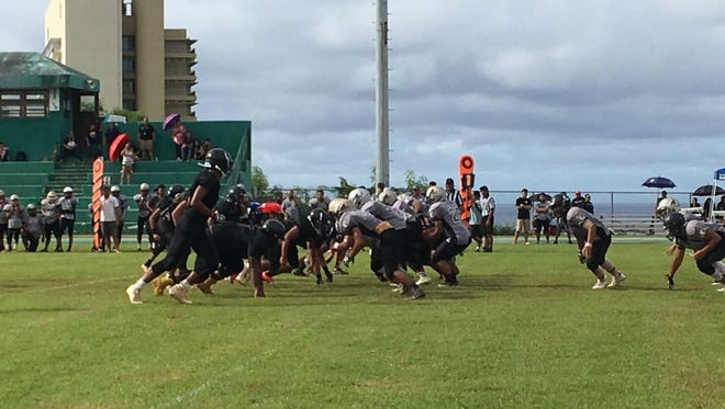 The John F. Kennedy Islanders and Simon Sanchez Sharks face off at Ramsey Field at JFK.
