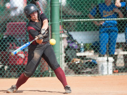Prattville's Emma Hindi swings during the AHSAA State
