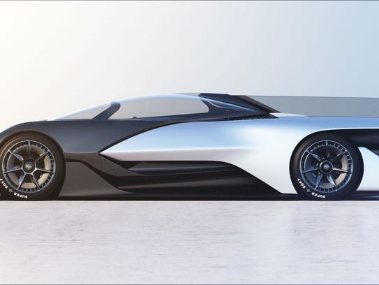 Farady Future's sleek new car was introduced at CES