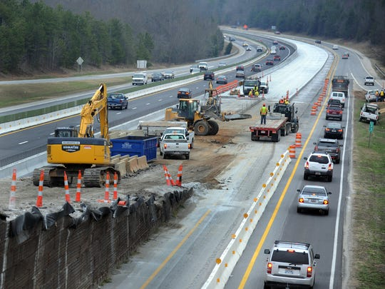 Even the near-constant work on I-385 has failed to keep roads adequate for transportation needs in Greenville County.