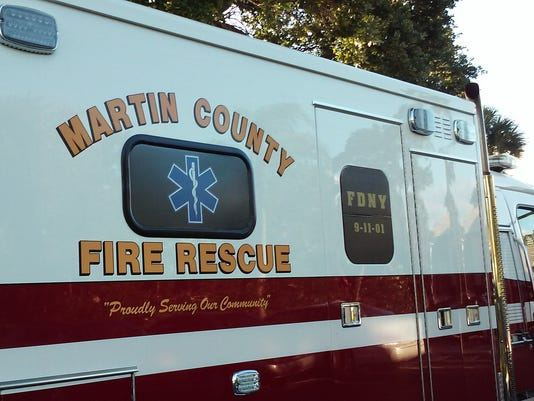 NOT FOR PRINT accident wreck 0604-2016 Martin County Fire Rescue ambulance
