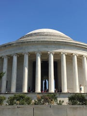The Thomas Jefferson Memorial, on the southern end