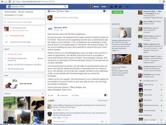Delaware SPCA Facebook post