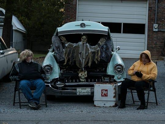 James and Wanda Biggs brought their vintage Oldsmobile