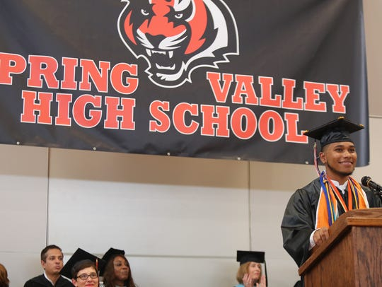 Spring Valley High School holds their graduation ceremony