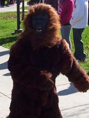 Kim Marks created a Bigfoot costume for her son, Cal, with an old fur coat purchased at the Salvation Army.