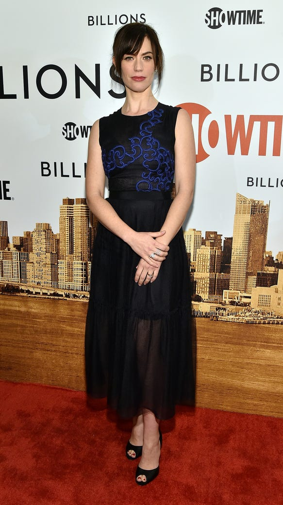 Maggie Siff attends the Showtime series premiere of