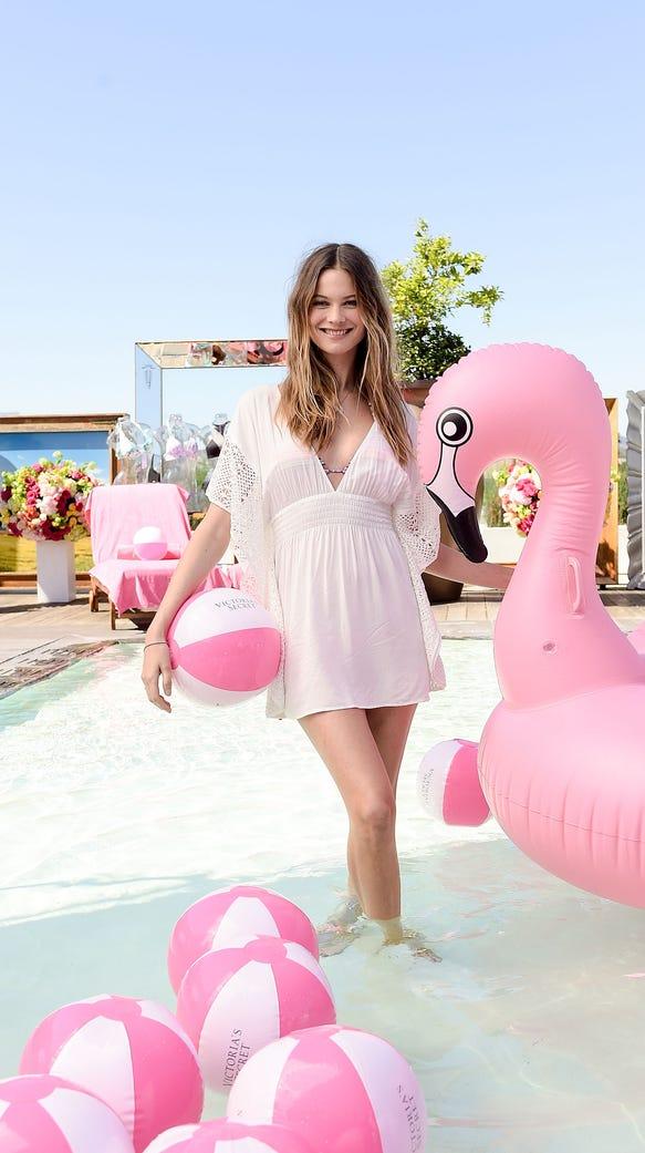 Victoria's Secret Angel Behati Prinsloo celebrates
