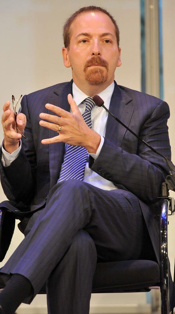 Chuck Todd speaks in New York City in 2015. President